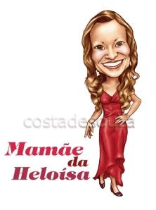 caricatura 500 mamae dia das maes