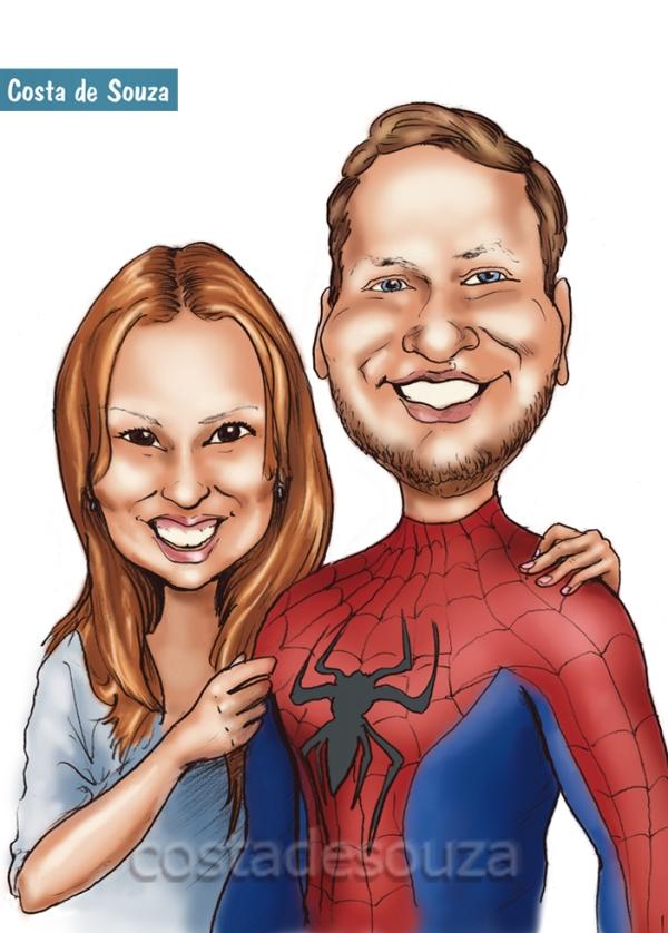 Caricatura Personalizada: Homem Aranha