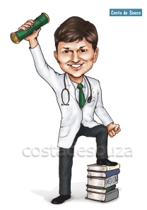 formatura medicina convite caricatura formando