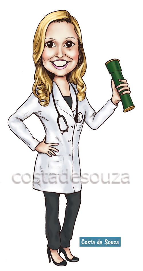 caricatura formatura medicina costa-de-souza