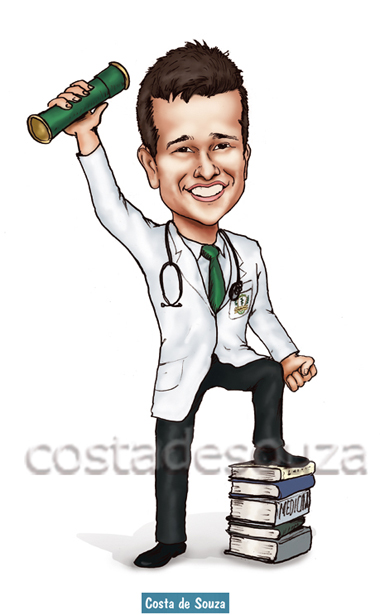 caricatura formatura medicina costa