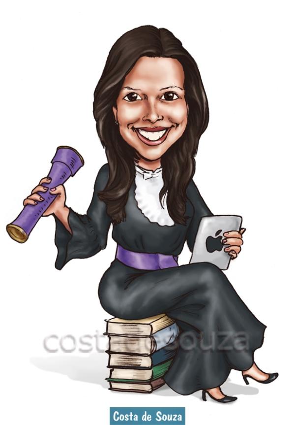 caricatura formatura biblioteconomia formanda