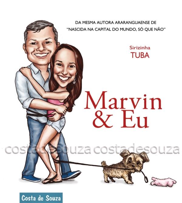 caricatura marley e eu cachorro casal