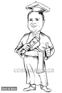 caricatura preto branco costa de souza