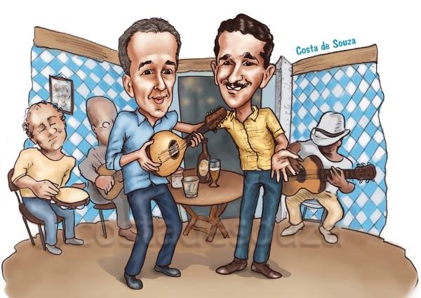 caricatura samba jacob bandolim bar
