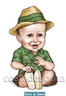 caricatura online criança aniversário 1 ano