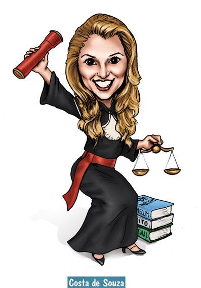 caricatura online formatura direito