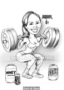 caricatura engraçada presente amiga