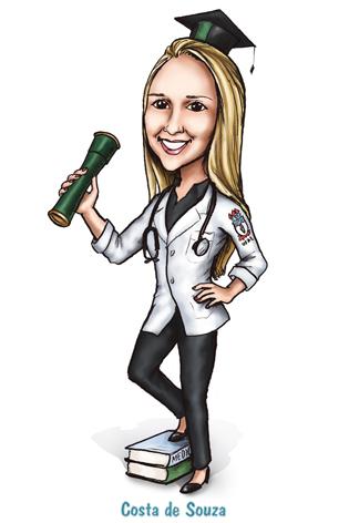 caricatura formatura formanda medicina