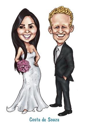 caricatura noivos online ocnvite costa