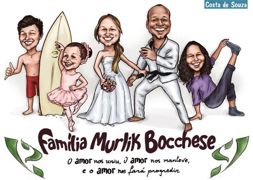 caricatura família pai mãe costa de souza