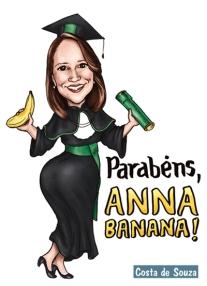 caricatura formatura banana costa
