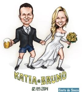 caricatura casamento copa brasil
