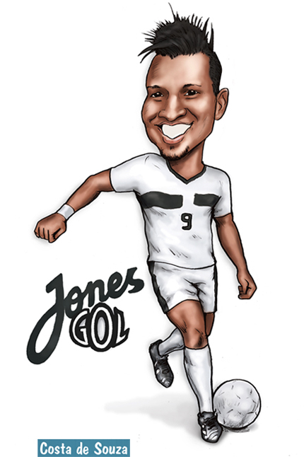 caricatura jogador futebol brasil