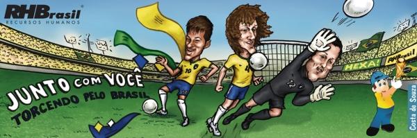 caricatura jogadores neymar david luiz
