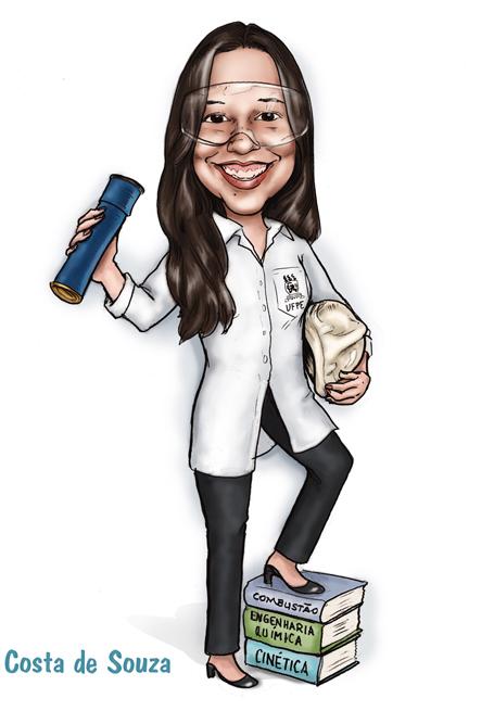 caricatura formatura engenharia química