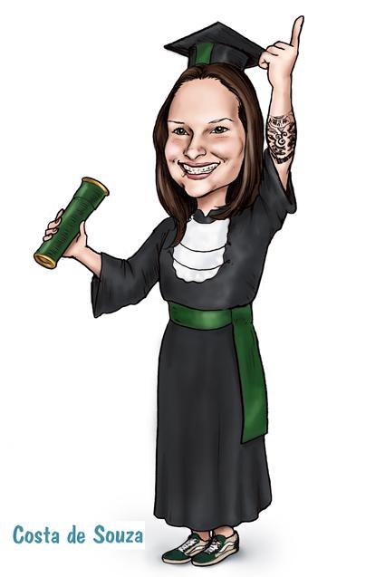 caricatura formatura formanda física