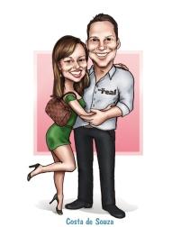 casal namorados caricatura presente online
