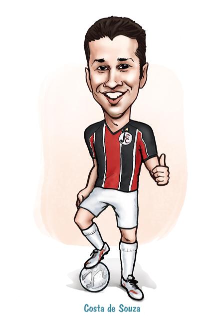 caricatura jogador futebol presente