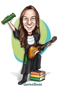 caricatura formatura medicina guitarra