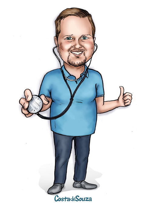 caricatura professor educação física