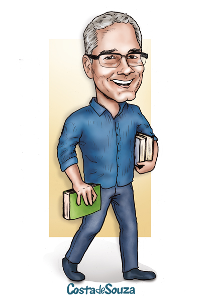 caricatura professor presente