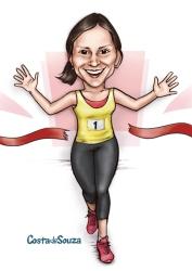 caricatura presente corrida corredora