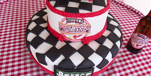 aniversário boteco bolo