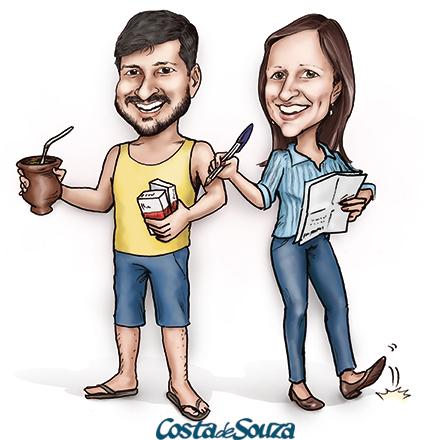 caricatura farmácia administração