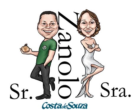 caricatura noivos smith casamento