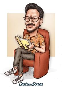 caricatura presente amigo facebook