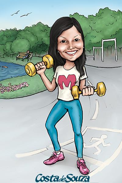 caricatura presente parque academia