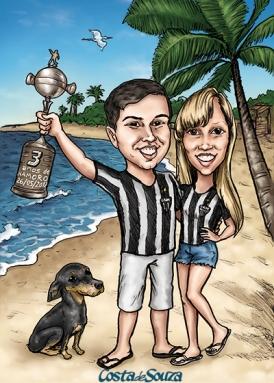 caricatura aniversario namoro namorados