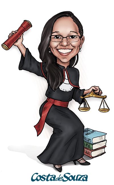 caricatura formatura direito formanda