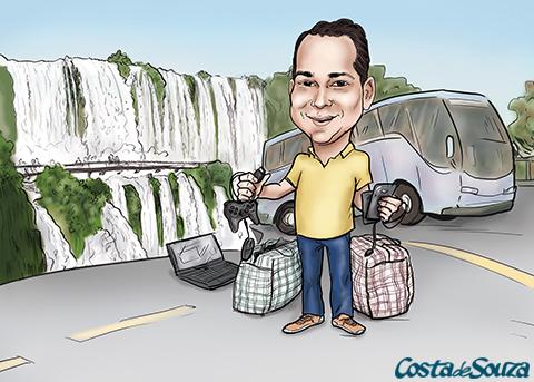 caricatura foz paraguai presente