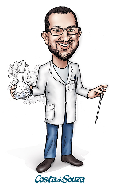 caricatura professor química
