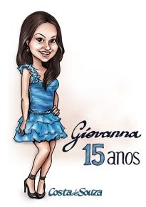 caricatura aniversario 15 anos