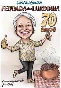 caricatura aniversario 70 anos