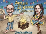 caricatura festa junina aniversario