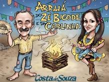 caricatura festa junina aniversario