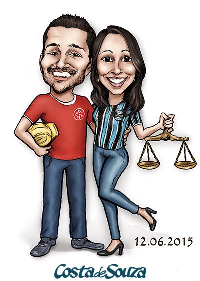 caricatura namorados direito engenharia