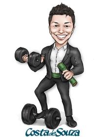 caricatura formatura educação física