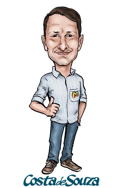 caricatura perfil logo empresa
