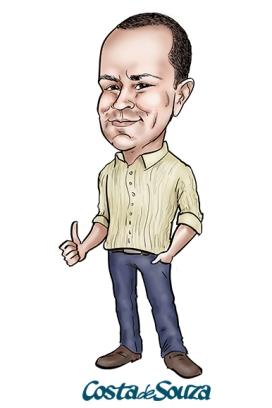 caricatura presente online