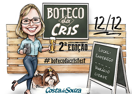 caricatura aniversario boteco bar 30