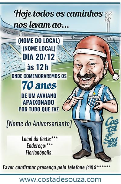 Caricatura E Design De Convite Costa De Souza