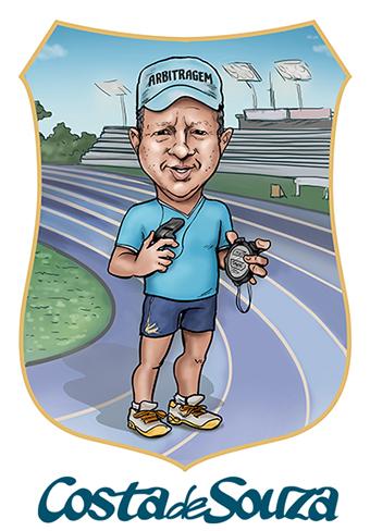 caricatura corrida atletismo fisica
