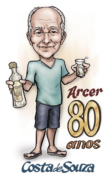 caricatura aniversario 80 festa