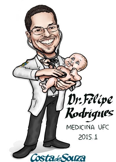 caricatura formatura medicina pediatra