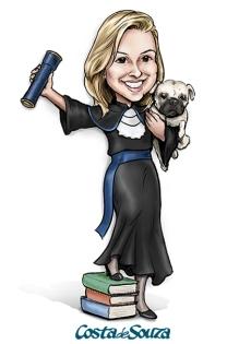 caricatura formatura cachorro